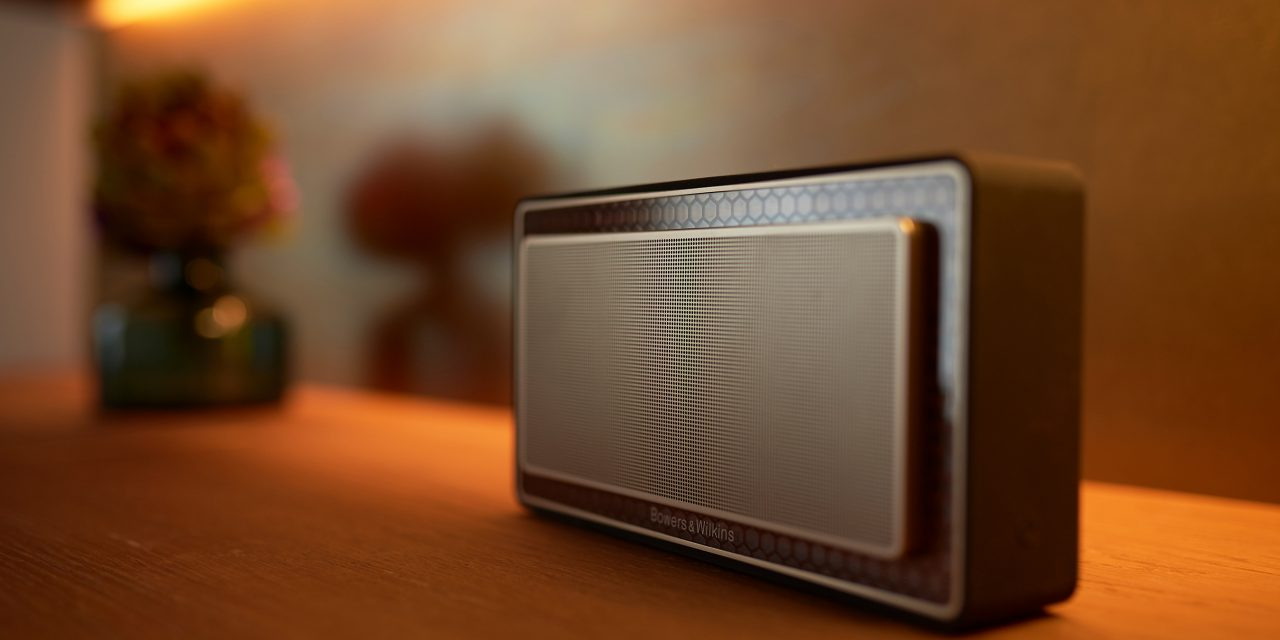 Bluetooth speakers from Bowers & Wilkins in the hotel rooms of the BEYOND-Hotel Munich