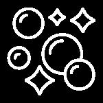 Ein Symbol von Seifenblasen